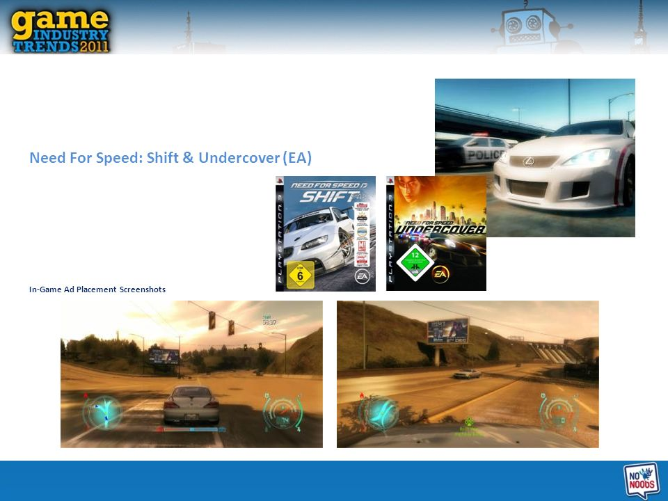 Need For Speed: Shift & Undercover (EA) In-Game Ad Placement Screenshots