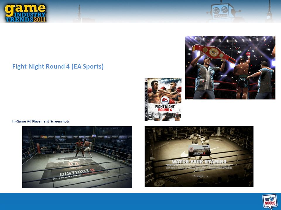 Fight Night Round 4 (EA Sports) In-Game Ad Placement Screenshots