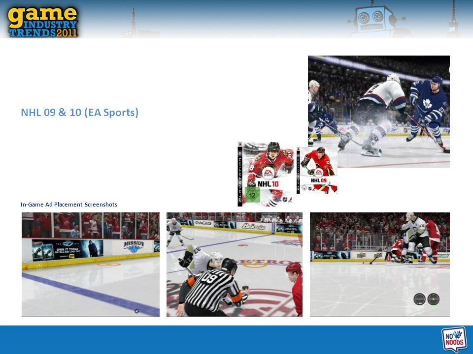 NHL 09 & 10 (EA Sports) In-Game Ad Placement Screenshots