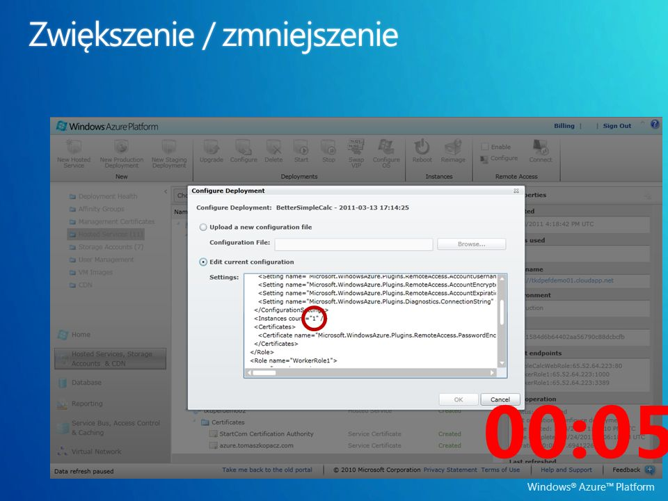 Windows ® Azure Platform 00:05