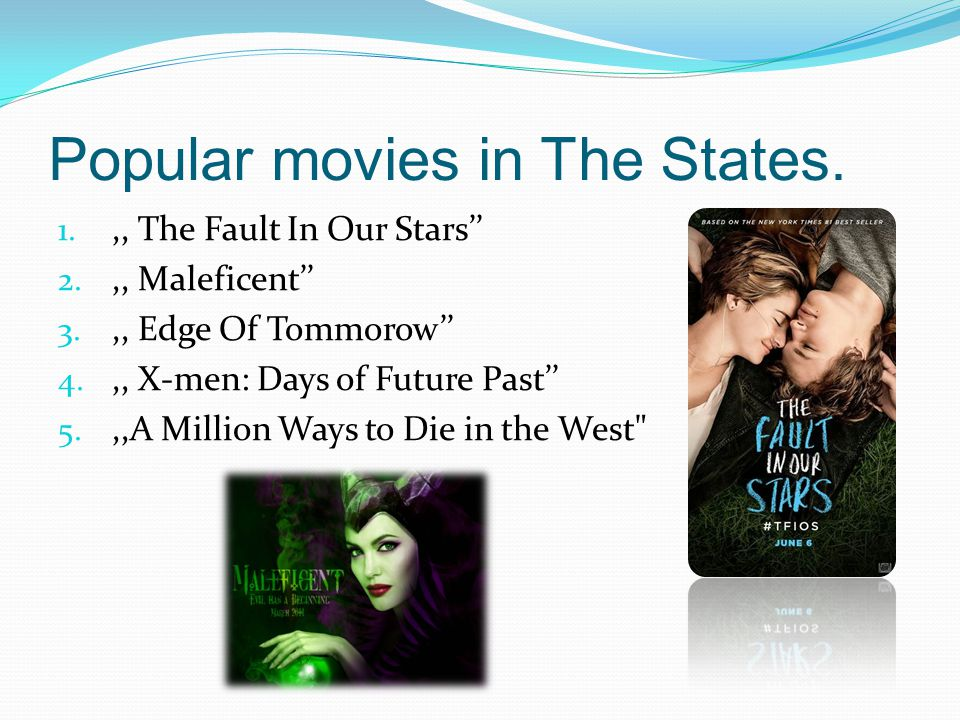 Popular movies in The States.