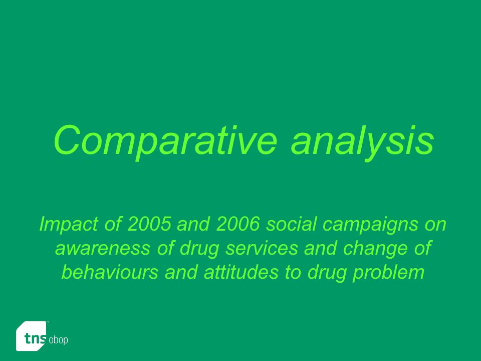 Comparative analysis Impact of 2005 and 2006 social campaigns on awareness of drug services and change of behaviours and attitudes to drug problem